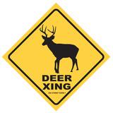 Deer Xing Tin Sign