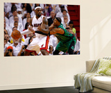 Miami, FL - May 28: LeBron James and Paul Pierce Wall Mural by Mike Ehrmann