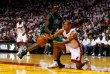 Miami, FL - May 28: Shane Battier and Brandon Bass Photographic Print by Mike Ehrmann