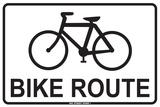 Bike Route Plechová cedule