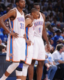 Oklahoma City, OK - June 2:  Kevin Durant, Russell Westbrook and Serge Ibaka Photo by Andrew Bernstein