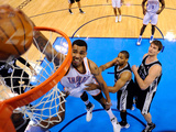 Oklahoma City, OK - June 2: Thabo Sefolosha Photographic Print by Larry W. Smith