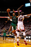Miami, FL - May 28: Ray Allen and Joel Anthony Photographic Print by Mike Ehrmann