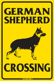 German Shepherd Crossing Emaille bord