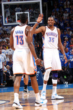 Oklahoma City, OK - June 2:  Kevin Durant and James Harden Photographic Print by Layne Murdoch