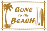 Gone to the Beach Tin Sign