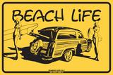 Beach Life Tin Sign