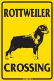 Rottweiler Crossing Blechschild