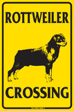 Rottweiler Crossing Tin Sign