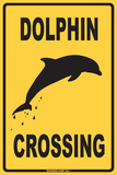 Dolphin Crossing Tin Sign
