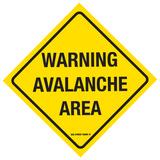 Warning Avalanche Area Plaque en métal