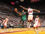 Miami, FL - May 28: Rajon Rondo and Udonis Haslem Photographic Print by Nathaniel S. Butler
