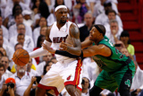 Miami, FL - May 28: LeBron James and Paul Pierce Photographic Print by Mike Ehrmann