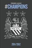 Manchester City 2011-12 Premier League Champions Crest Posters