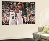 Boston, MA - June 3: Kevin Garnett and Rajon Rondo Prints by Jesse D. Garrabrant