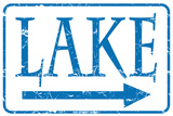 Lake Tin Sign