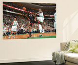 Boston, MA - June 3: LeBron James and Brandon Bass Wall Mural by Jesse D. Garrabrant