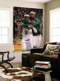 Boston, MA - June 03: Rajon Rondo and Paul Pierce Print by Jim Rogash