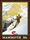 Ski Mammoth Tin Sign