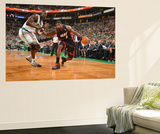 Boston, MA - June 3: LeBron James and Kev Wall Mural by Jesse D. Garrabrant