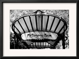 Metro Entrance, Paris Framed Giclee Print by Heiko Lanio