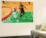 Boston, MA - June 3: LeBron James and Paul Pierce Art by Brian Babineau