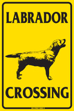 Labrador Crossing Tin Sign