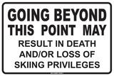 Going Beyond this Point…. Plaque en métal
