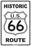 Historic U.S. 66 On Route Tin Sign
