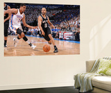 Oklahoma City, OK - June 2: Tony Parker and Thabo Sefolosha Art by Andrew Bernstein