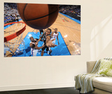Oklahoma City, OK - June 2: Kawhi Leonard and Kendrick Perkins Print by Andrew Bernstein