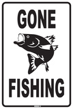 Gone Fishing Tin Sign
