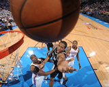 Oklahoma City, OK - June 2: Kawhi Leonard and Kendrick Perkins Photographic Print by Andrew Bernstein