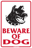 Beware of dog Plaque en métal