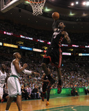 Boston, MA - June 03: LeBron James and Ray Allen Photographic Print by Jim Rogash