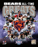 Chicago Bears All-Time Greats Composite Photographie