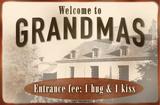 Welcome to Grandmas Tin Sign