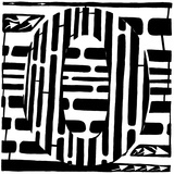 Number Zero 0 Maze Prints by Yonatan Frimer