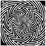Please Stop Spinning Optical Illusion Maze Art Art par Yonatan Frimer
