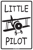 Little Pilot Tin Sign