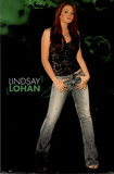 Lindsay Lohan Movie (Green Background) Poster Print Photo
