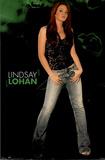 Lindsay Lohan Movie (Green Background) Poster Print Photo