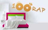 100 percent Rap Wall Decal