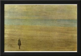 James Abbot McNeill Whistler (Harmony in Blue and Silver: Trouville) Art Poster Print Posters