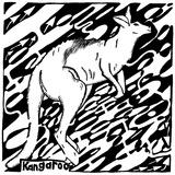 K is for Kangaroo Maze Posters af Yonatan Frimer