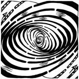 Wave Swirl Optical Illusion Prints by Yonatan Frimer