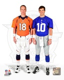 Peyton Manning & Eli Manning 2012 Posed Photo