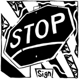 S is for Stop Sign Maze Print by Yonatan Frimer