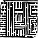 Maze of Uppercase B Posters par Yonatan Frimer