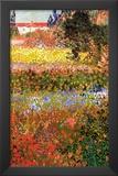 Vincent Van Gogh Flowering Garden Art Print Poster Poster
